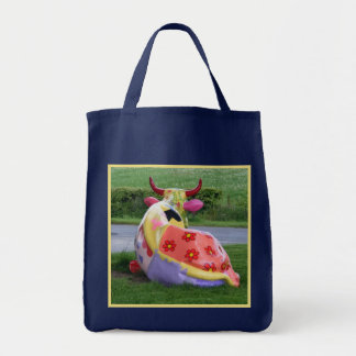 Painted Cow Tote Bag