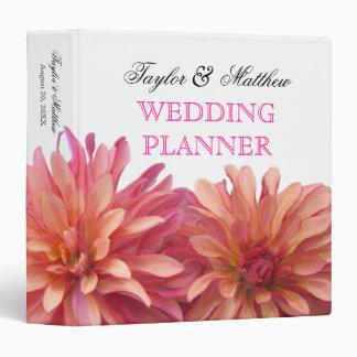 Painted Dahlia Floral Wedding Planner 1.5 Inch Binder