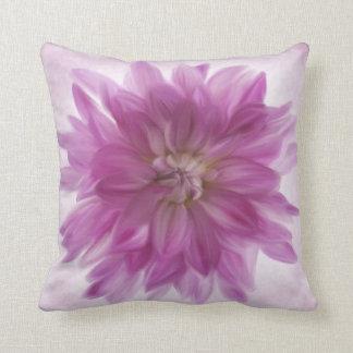 Painted Dahlia (Purple) Blossom Throw Pillow