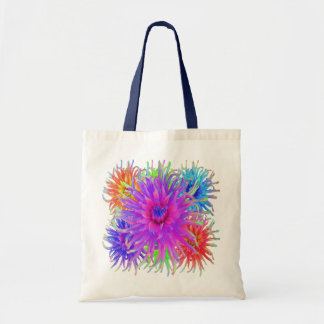 Painted Dahlias Canvas Bags