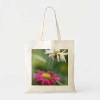 Painted Daisies In Dappled Sunlight Budget Tote Bag