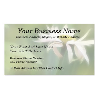 Painted Daisies In Dappled Sunlight Business Card Template