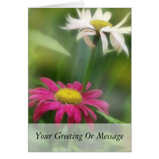 Painted Daisies In Dappled Sunlight Card