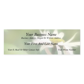 Painted Daisies In Dappled Sunlight Mini Business Card