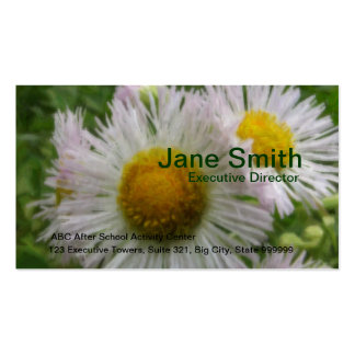 Painted Daisy 2 Double-Sided Standard Business Cards (Pack Of 100)