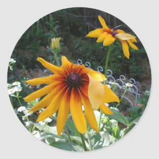 Painted Daisy Classic Round Sticker