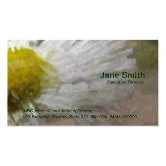 Painted Daisy Double-Sided Standard Business Cards (Pack Of 100)