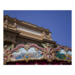 painted decorative carousel with pictures of print