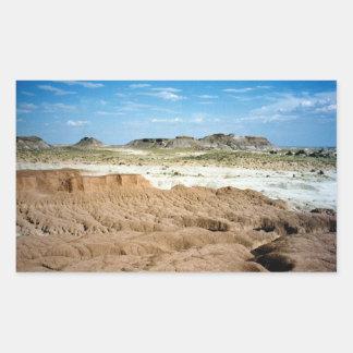 Painted Desert scene 01 Rectangular Sticker