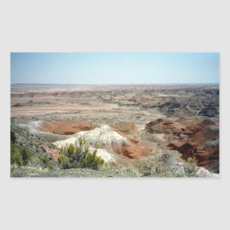 Painted Desert scene 08 Rectangular Sticker