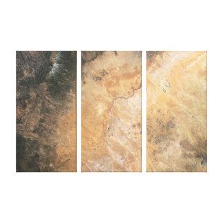 Painted Desert Triptych Canvas Print