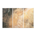 Painted Desert Triptych Stretched Canvas Print