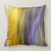 """painted"" design on throw pillow"