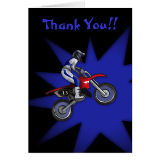 Painted Dirt Bike Thank You Card