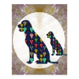 Painted Dog Pet Animal Labrador mans best friend Letterhead