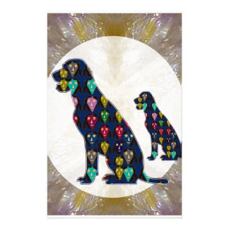 Painted Dog Pet Animal Labrador mans best friend Stationery