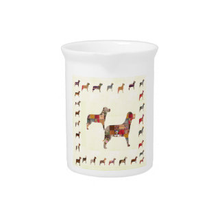 Painted DOGS Gifts Pet KIDS Festival Xmas Diwali Drink Pitcher