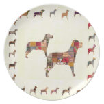 Painted DOGS Gifts Pet KIDS Festival Xmas Diwali Party Plates