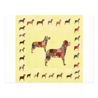 Painted DOGS Gifts Pet KIDS Festival Xmas Diwali Postcard