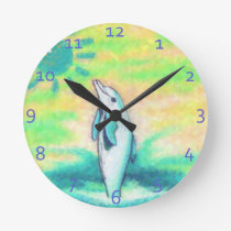 Painted Dolphin Clocks