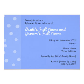Painted Dots blue Rehearsal Dinner Invitation