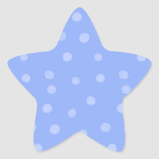 Painted Dots blue Star Sticker