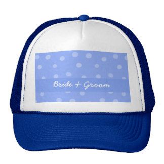 Painted Dots blue Wedding Hat