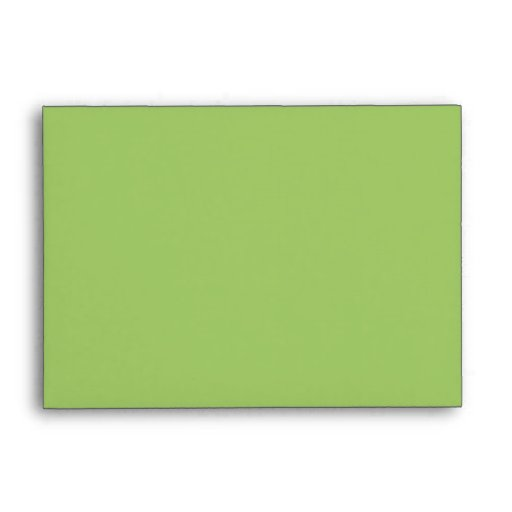 Painted Dots green A6 Envelope