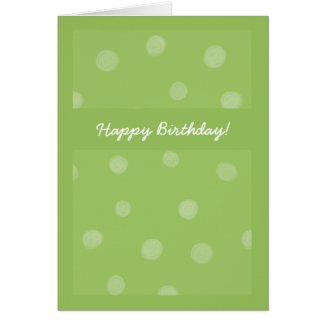 Painted Dots green Birthday Card card