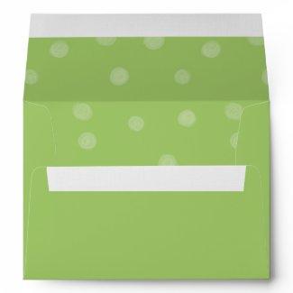 Painted Dots green Card Envelope envelope
