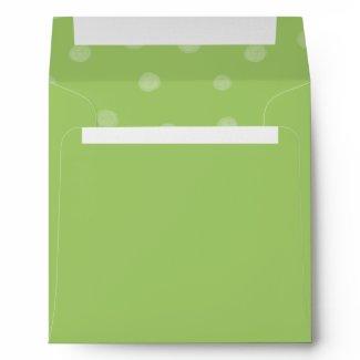 Painted Dots green Invitation Envelope envelope