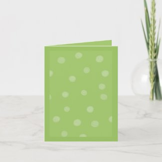 Painted Dots green Note Card card