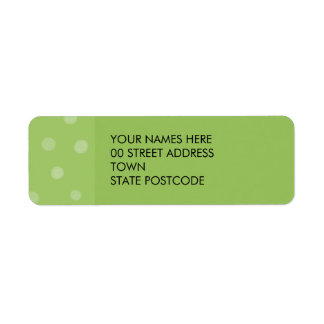 Painted Dots green Return Address Label
