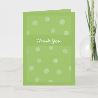 Painted Dots green Thank You Card card