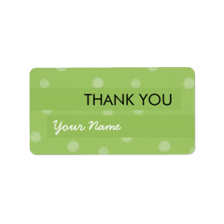 Painted Dots green Thank You Sticker Address Label