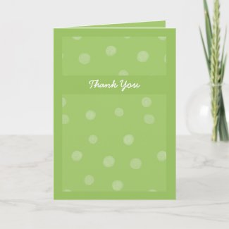 Painted Dots green Wedding Thank You Card card