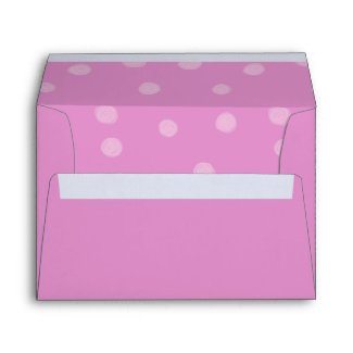 Painted Dots pink Card Envelope envelope