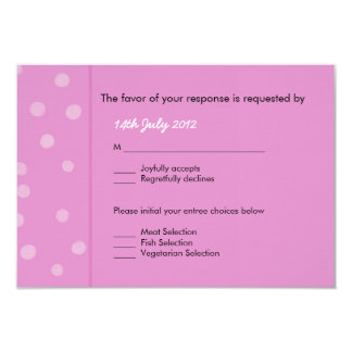 Painted Dots pink Wedding RSVP Card