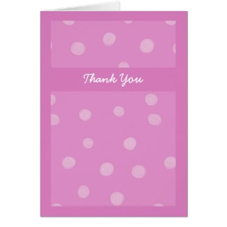 Painted Dots pink Wedding Thank You Card card
