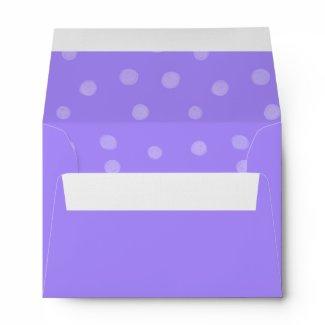 Painted Dots purple A6 Envelope envelope