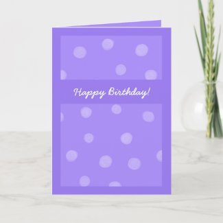 Painted Dots purple Birthday Card card