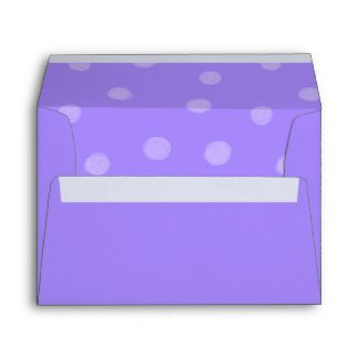 Painted Dots purple Card Envelope envelope