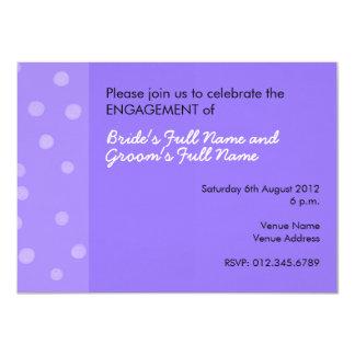Painted Dots purple Engagement Invitation