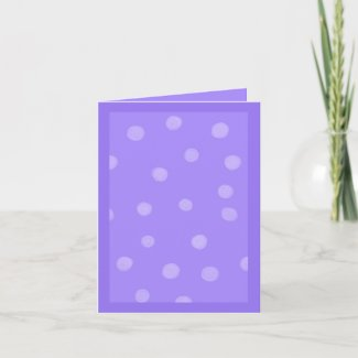 Painted Dots purple Note Card card