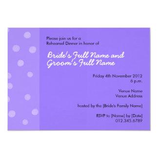 Painted Dots purple Rehearsal Dinner Invitation
