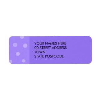 Painted Dots purple Return Address Label label