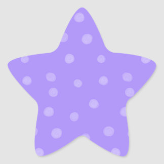 Painted Dots purple Star Sticker