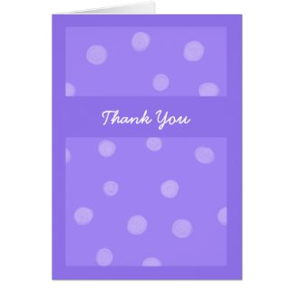 Painted Dots purple Thank You Card card