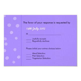 Painted Dots purple Wedding RSVP Card