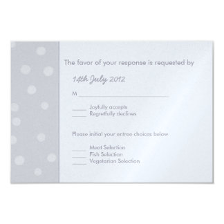 Painted Dots silvery gray Wedding RSVP Card
